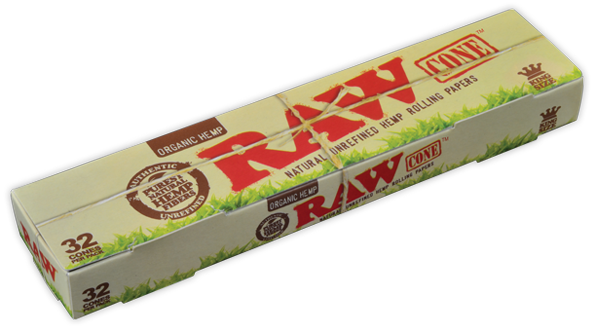 RAW Organic Hemp Kingsize Cones 32 Stk.